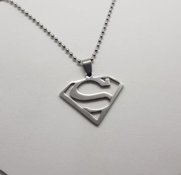 Classic Superman Stainless Steel Pendant